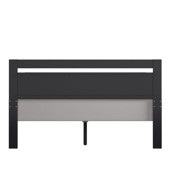 Christopher Black Queen Rectangular Cut-Out Panel Bed, image 4
